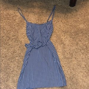 Brandy Melville Blue plaid dress.